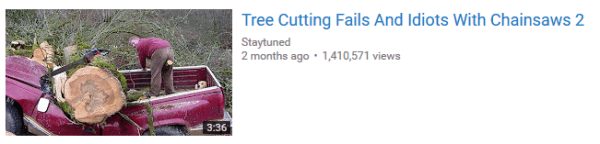 Tree Cutting Fails on Youtube -- Don't be next!