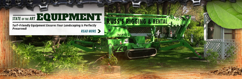Turf friendly Tree removal equipment